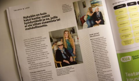 Oma-aika lehden artikkeli Ilostu Oy:stä